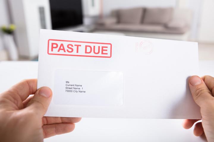 Aangetekende brief met onbetaalde factuur